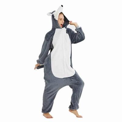Пижама кигуруми хаски (размер s)