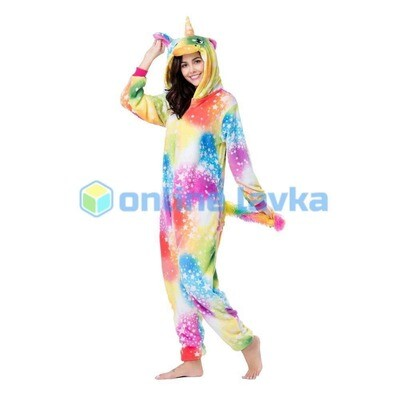 Пижама кигуруми Единорог феерический (размер m)