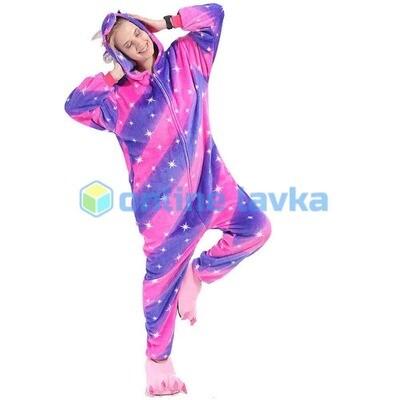 Пижама кигуруми Единорог сине розовый (размер s)
