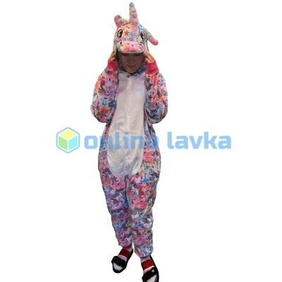 Пижама кигуруми Единорог в единорогах светлый (размер m)