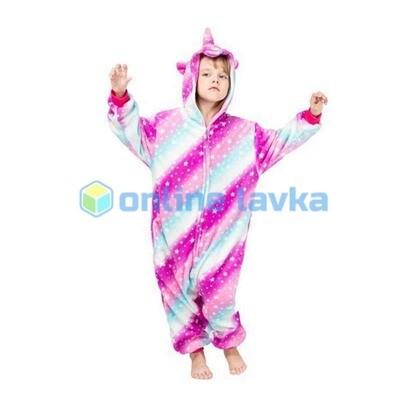 Пижама кигуруми Единорог млечный (рост до 120 см)
