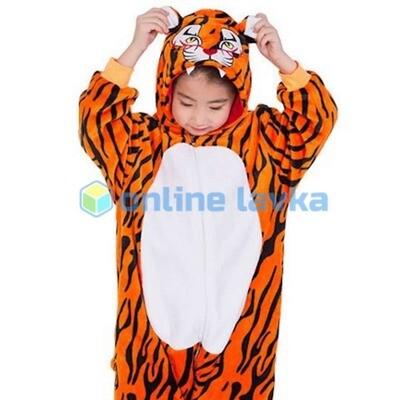 Пижама кигуруми Тигр (рост до 140 см)