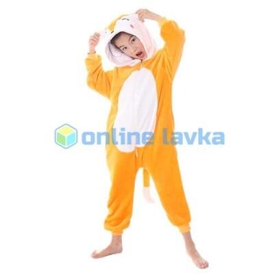 Пижама кигуруми рыжая лиса (рост до 120 см)