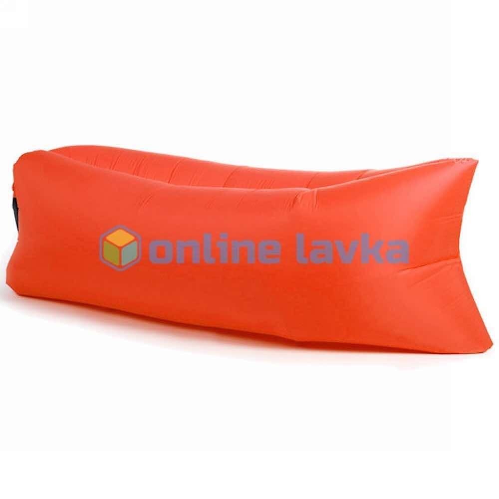 Ламзак - надувной диван красный 200*70 см