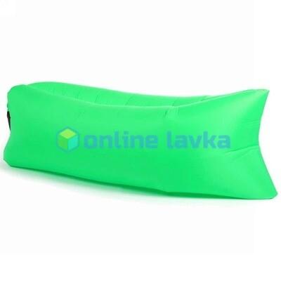 Ламзак - надувной диван зеленый 200*70 см