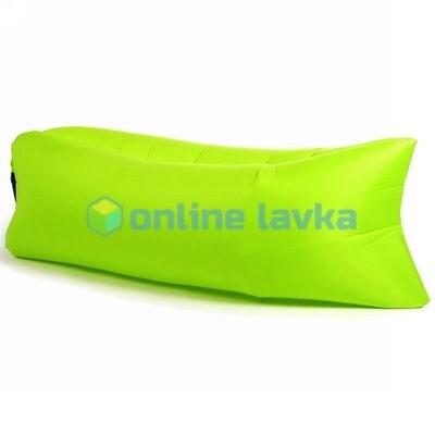 Ламзак - надувной диван салатный 200*70 см