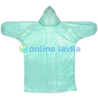 Дождевик 20 мкр 115 см Классик с капюшоном и завязками зеленый