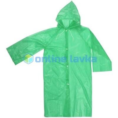 Дождевик 20 мкр 85 см Карина с капюшоном и завязками на кнопках зеленый