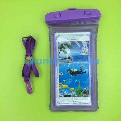 чехол водонепроницаемый фиолетовый (поплавок)