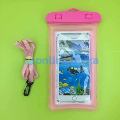 чехол водонепроницаемый розовый (поплавок)