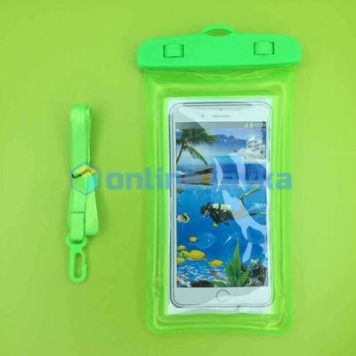 чехол водонепроницаемый зеленый (поплавок)
