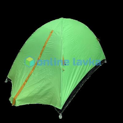 Палатка 2 места 2 слоя с плотным дном зеленая