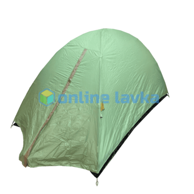 Палатка 2 места 2 слоя с плотным дном нежно зеленая