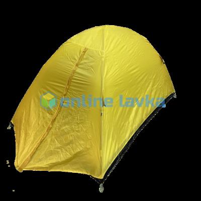 Палатка 2 места 2 слоя с плотным дном желтая