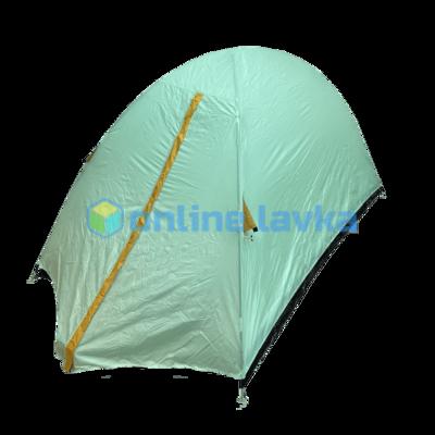 Палатка 2 места 2 слоя с плотным дном светло зеленая