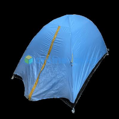 Палатка 2 места 2 слоя с плотным дном голубая