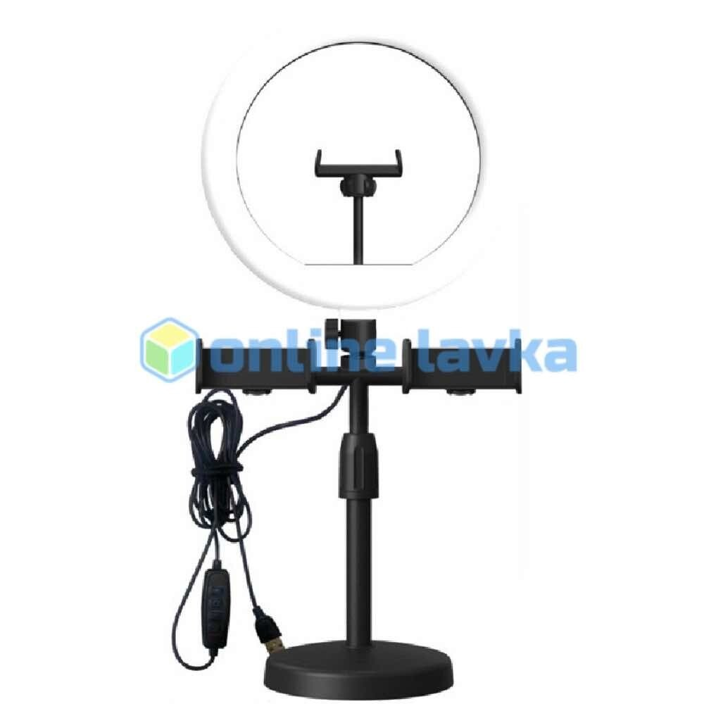 Кольцевая лампа 16 см + настольный держатель