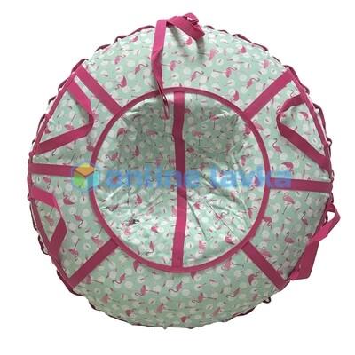 тюбинг для детей и взрослых Фламинго (надутый - 100 см)