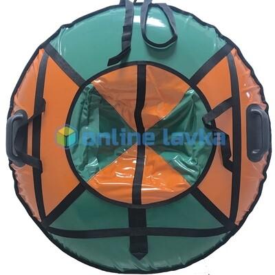Тюбинг для взрослых премиум 100 см зелено оранжевый