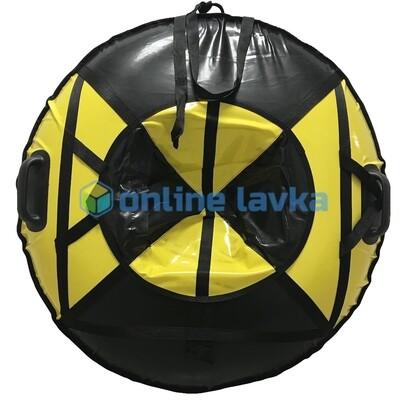 Тюбинг для детей премиум 90 см черно желтый