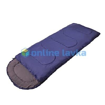 Спальник СП2XXL с капюшоном 200+35*90 см синий