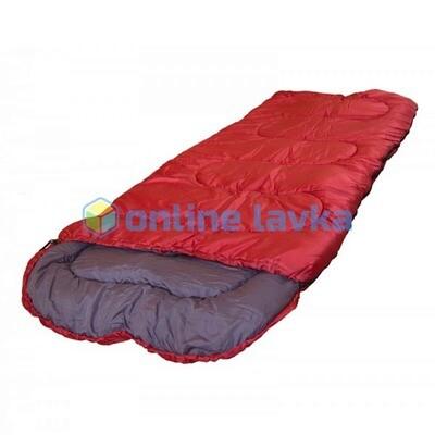 Спальник СП3 с капюшоном 200+35*75 см красный