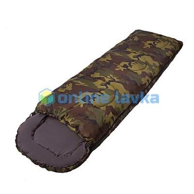 Спальник СП2 с капюшоном 200+35*75 см хаки