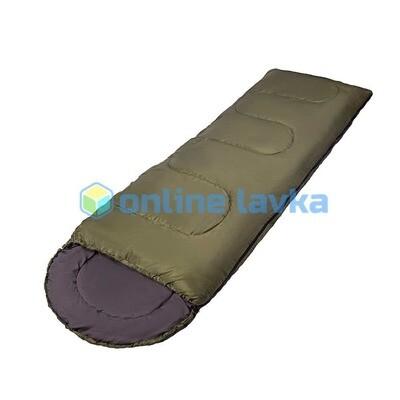 Спальник СП3XXL с капюшоном 200+35*90 см зеленый