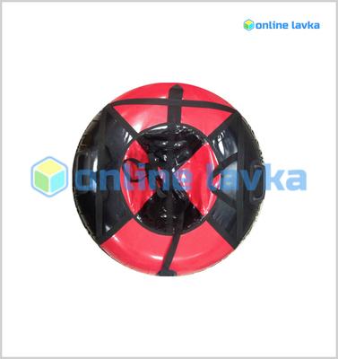 Тюбинг для детей премиум 90 см черно красный