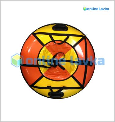 Тюбинг для взрослых премиум 100 см желто оранжевый