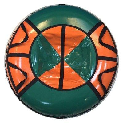 тюбинг для взрослых зелено оранжевый (надутый - 97 см)
