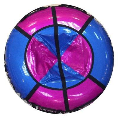 тюбинг для детей и взрослых Блестки розово синие (надутый - 100 см)