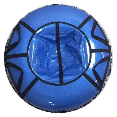 тюбинг для детей и взрослых Блестки голубые (надутый - 100 см)