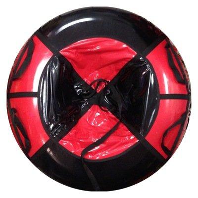 тюбинг для взрослых черно красный (надутый - 110 см)