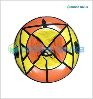 Тюбинг для взрослых премиум 110 см желто оранжевый
