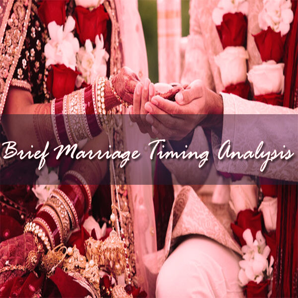 Brief Marriage Timing Analysis | 30 Minutes Online session I Voice Session