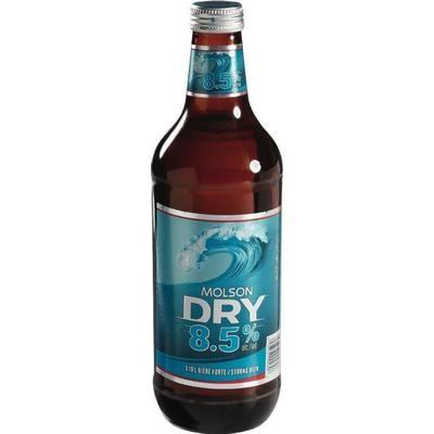 Molson Dry au choix 1.18L 5,49$