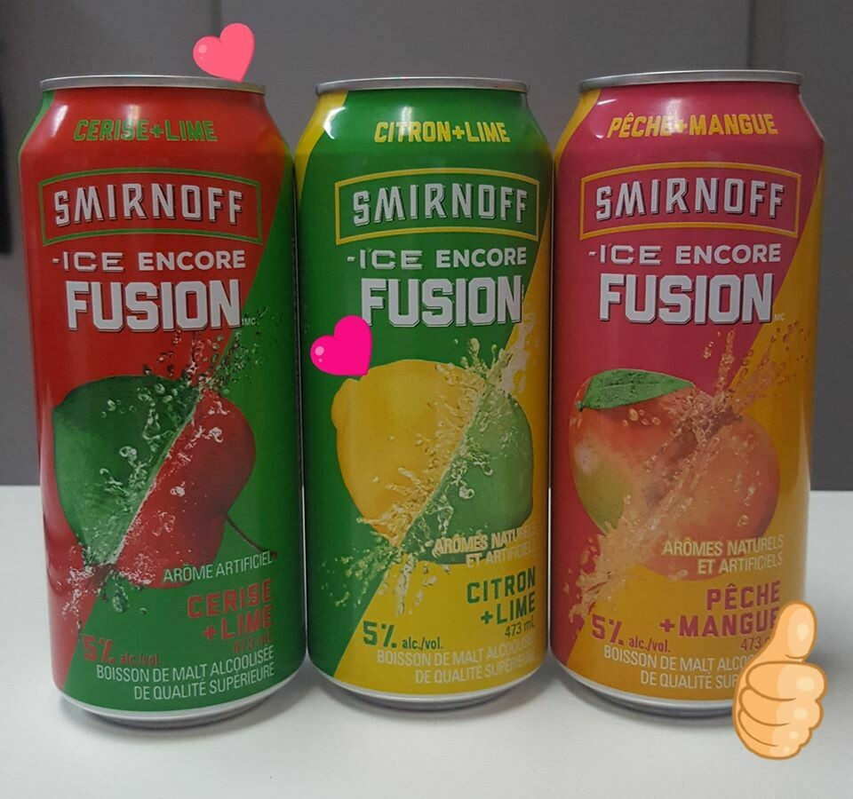 Smirnoff Fusion au choix 3,99$