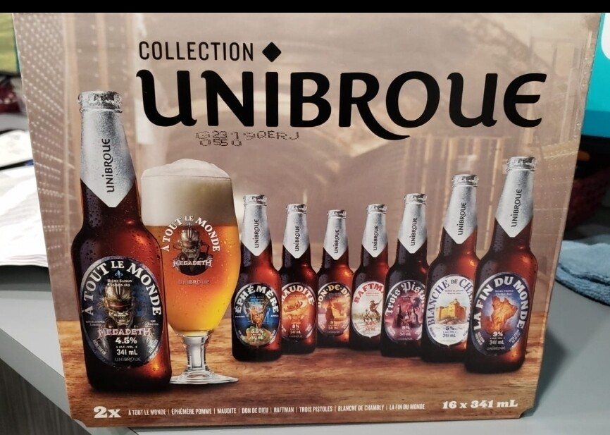 Collection Unibroue 16-Bout 24.99$