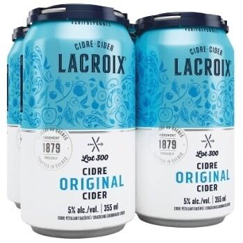 Cidre Lacroix 4-pack 13,99$