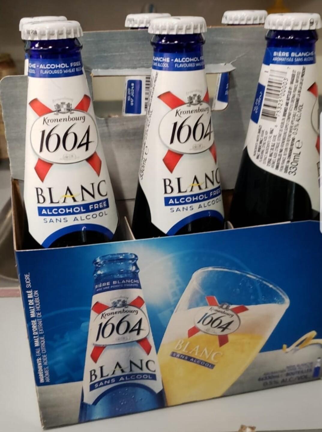 1664 Blanche sans Alcool 13.99$