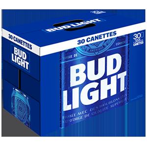 30 x Bud light 40,99$