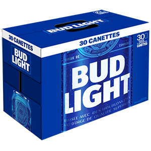 30 x Bud light 40,99$