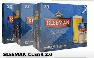 60 x Sleeman Clear 68.99$