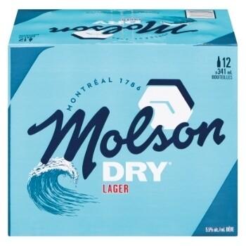 Molson Dry 18,99$