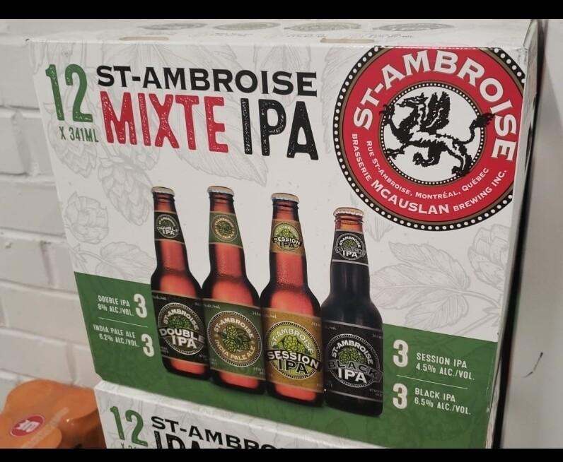 St-Ambroise mixte IPA 18.99$