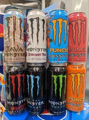 Monsters au choix 3.99$