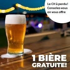 La bière gratuite du CH