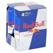 Red Bull 4-pack 9,99$