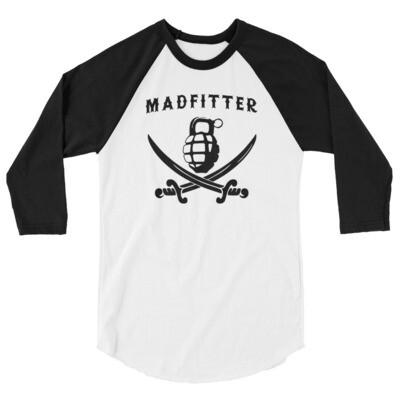 Pirate Life 3/4 sleeve raglan shirt